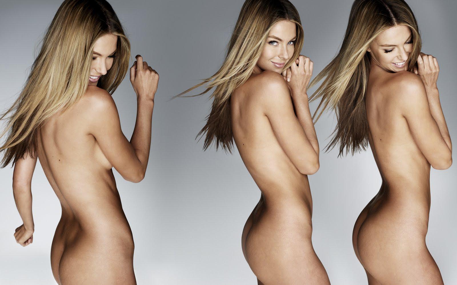 Jennifer hawkins portant des photos de lingerie
