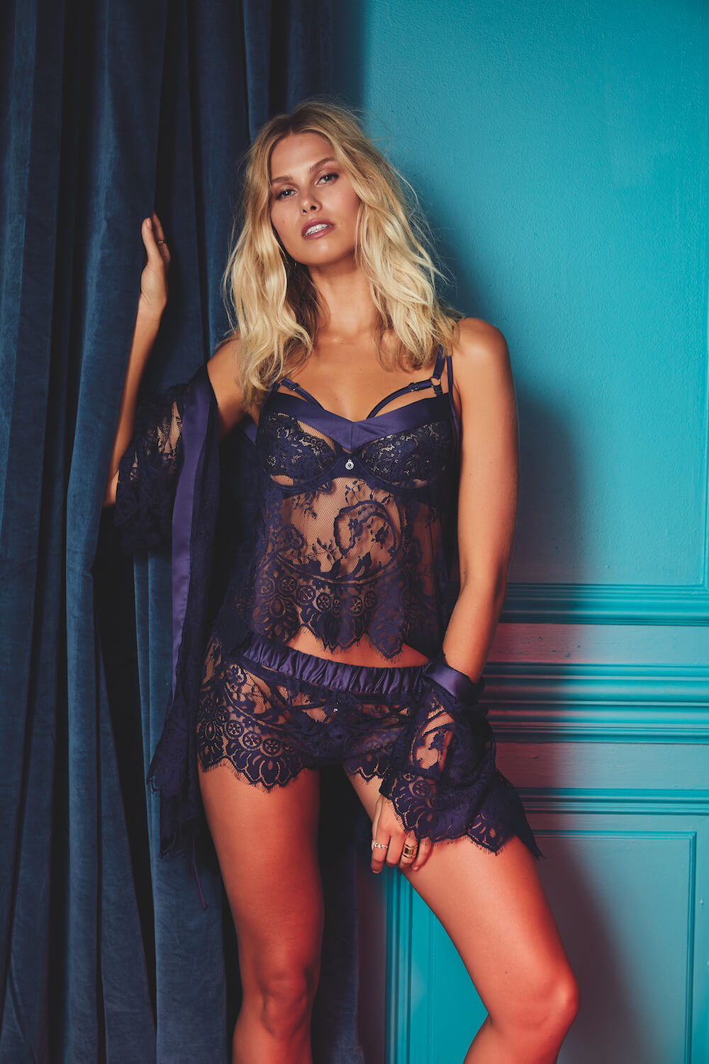 cc2b0b115a The Dreamer PJ set and Wrap is a Bras N Things favourite and now available  in a gorgeous navy blue. The navy Dreamer collection perfectly complements  the ...